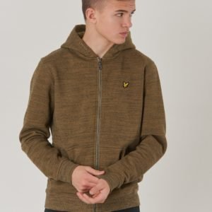 Lyle & Scott Space Dye Zip Through Hoody Huppari Vihreä