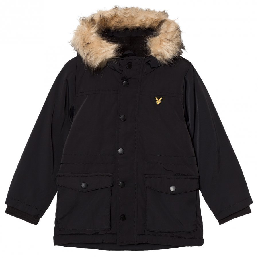 Lyle & Scott True Black Micro Fleece Lined Jacket Fleece Takki