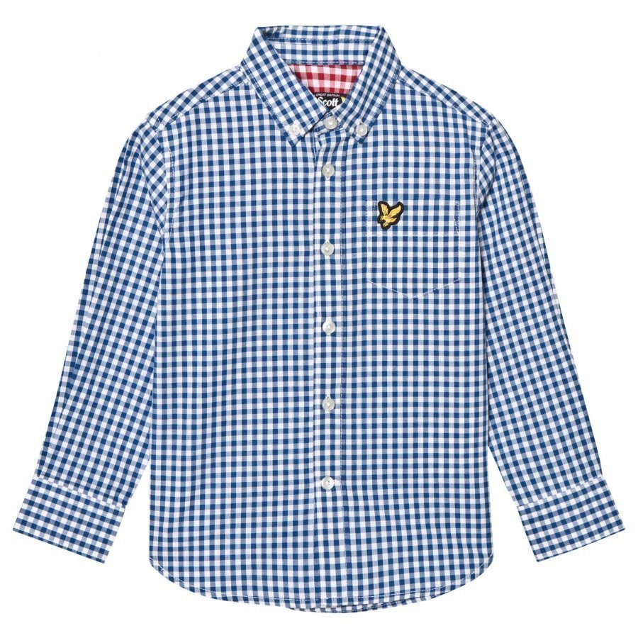 Lyle & Scott True Blue Gingham Shirt Kauluspaita