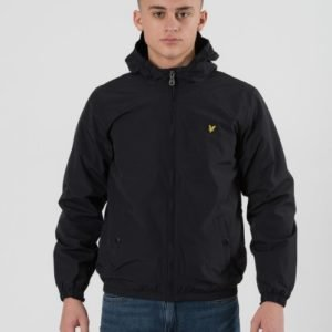 Lyle & Scott Windcheater Zip Through Hoodie Jacket Takki Musta