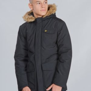 Lyle & Scott Winter Weight Micro Fleece Lined Parka Takki Musta