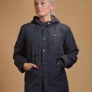 Lyle & Scott Winter Weight Microfleece Parka Takki Musta