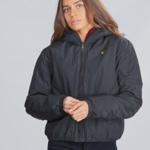 Lyle & Scott Zip Through Hooded Jacket Takki Musta
