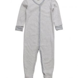Müsli by Green Cotton Stripe Bodysuit W/Feet