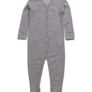 Müsli by Green Cotton Woolly Bodysuit W Feet