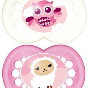 MAM Tutti + Sterilointirasia Original 6m+ Silikoni Vaaleanpunainen