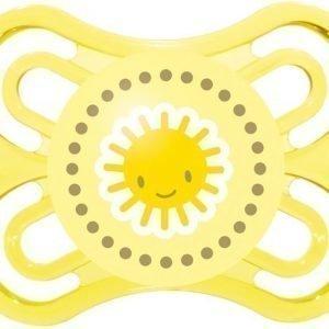 MAM Tutti + Sterilointirasia Perfect 0-6m Silikoni Keltainen