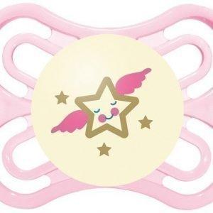 MAM Tutti + Sterilointirasia Perfect Night 0-6m Silikoni Vaaleanpunainen