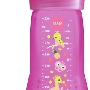 MAM Tuttipullo Baby Bottle 330 ml Vaaleanpunainen