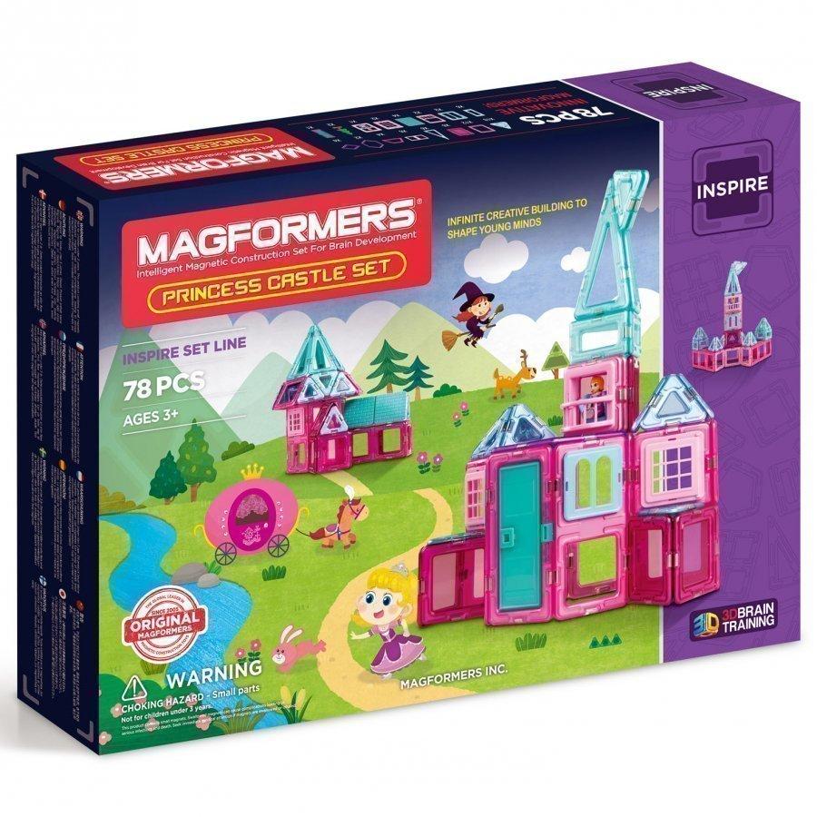 Magformers Princess Castle 78 Piece Set Rakennuspalikat
