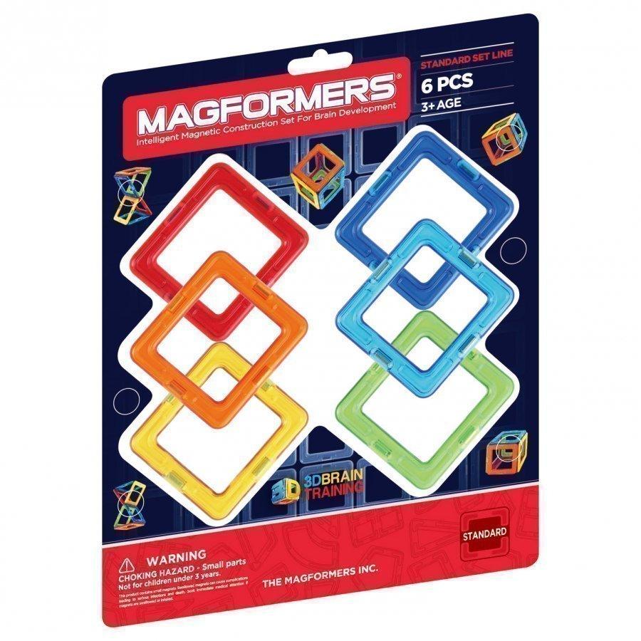 Magformers Rainbow Square 6 Piece Add-On Set Rakennuspalikat