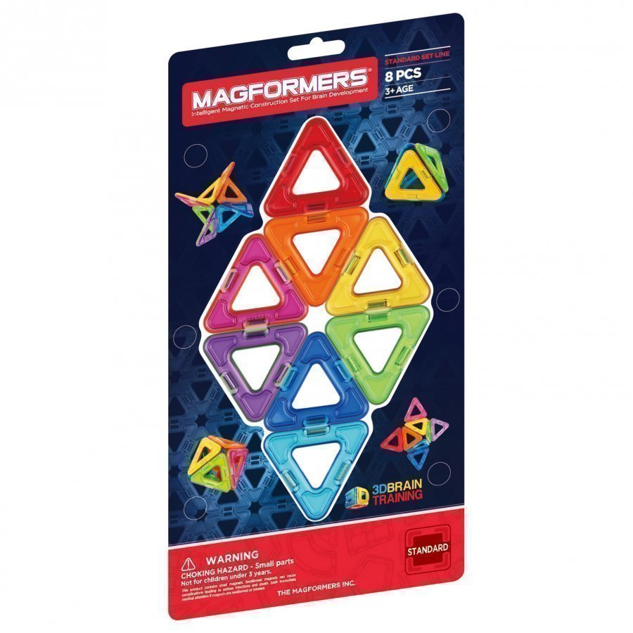 Magformers Rainbow Triangle 8 Piece Add-On Set Rakennuspalikat