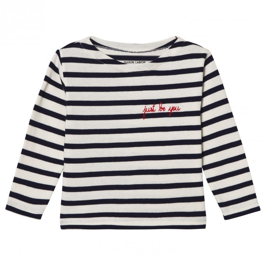 Maison Labiche Just Be You Embroidered Long Sleeve Tee Classic Pitkähihainen T-Paita