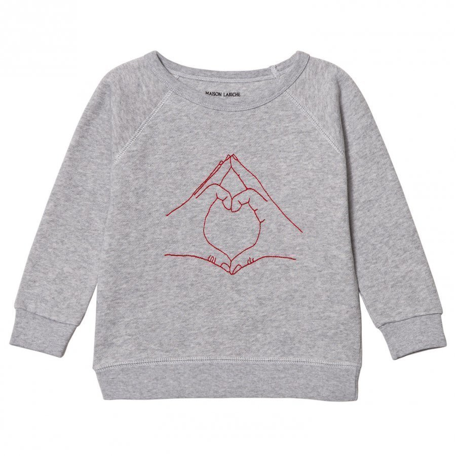 Maison Labiche Love Sign Sweatshirt Grey Oloasun Paita