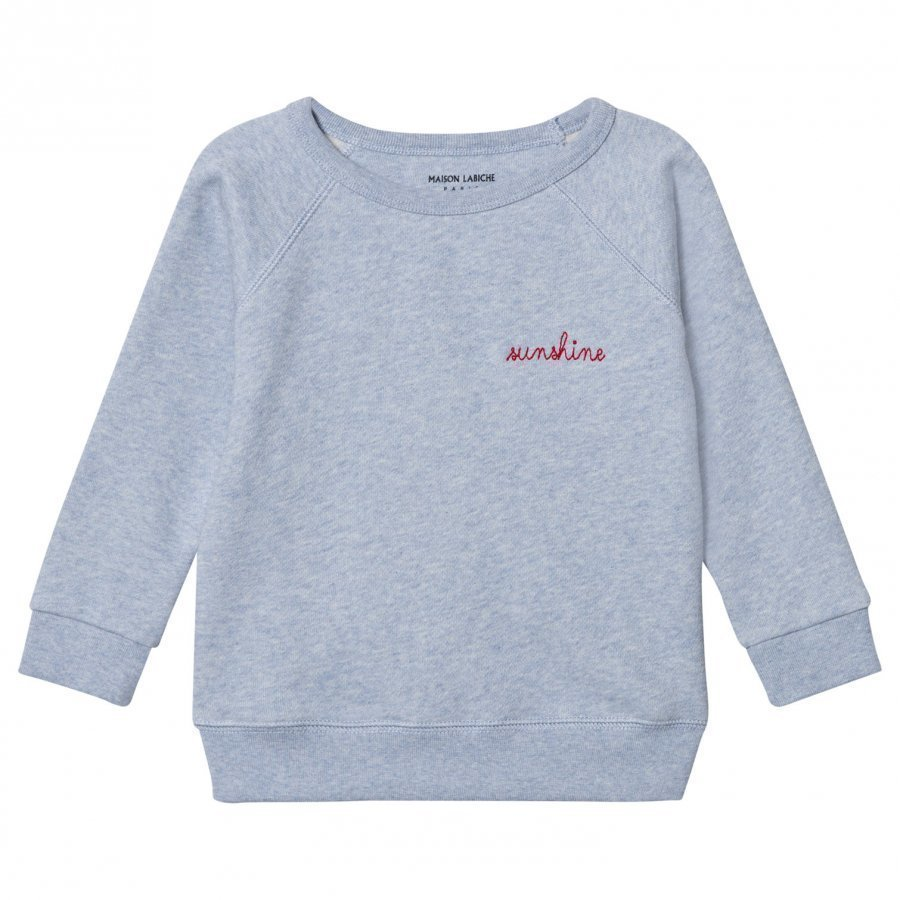 Maison Labiche Sunshine Embroidered Sweatshirt Blue Oloasun Paita