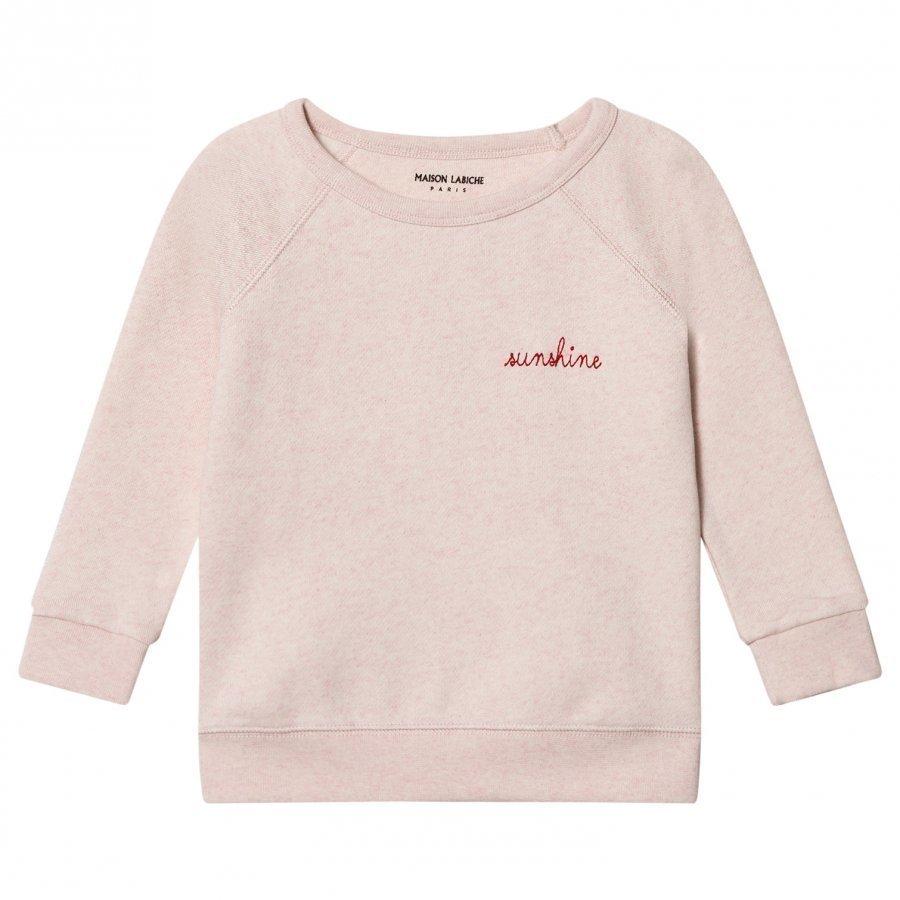 Maison Labiche Sunshine Embroidered Sweatshirt Pink Oloasun Paita