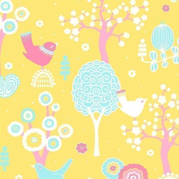Majvillan Tapetti Kirsikkalaakso Keltainen