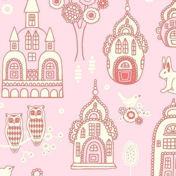 Majvillan Tapetti Linnan puutarha Vaaleanpunainen