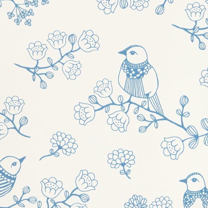 Majvillan Tapetti Sugar tree sininen/valkoinen
