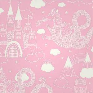 Majvillan Wallpaper Drakhimlen Pink Tapetti