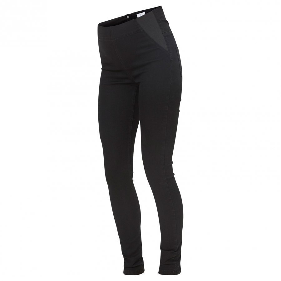Mamalicious High Waisted Post-Pregnancy Jeggings Black Farkut Äidille