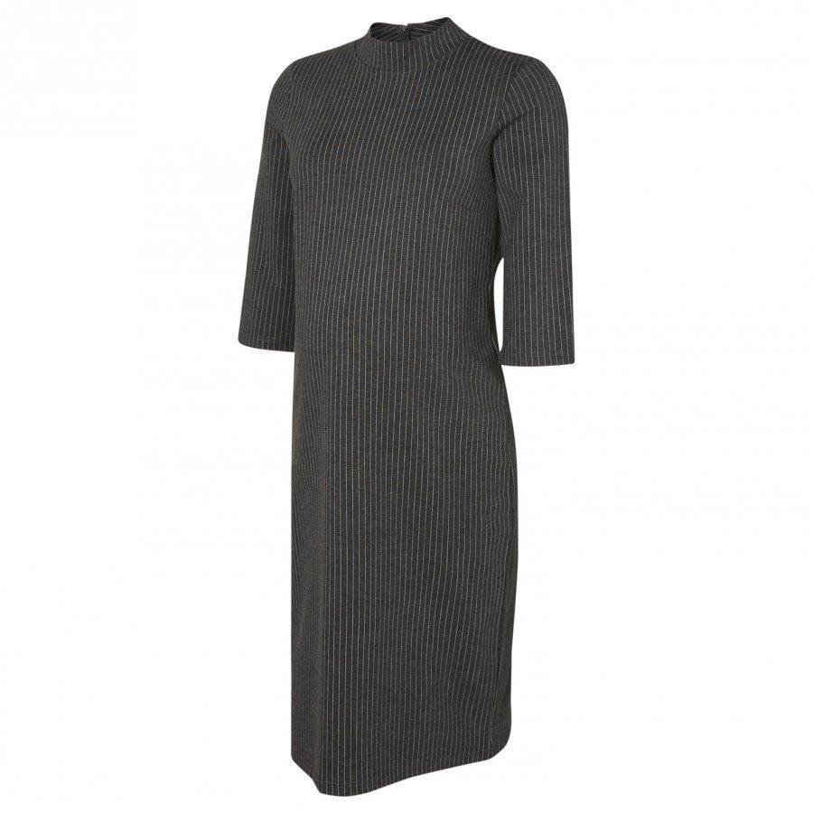 Mamalicious Jersey Maternity Dress Medium Grey Melange Raskausmekko