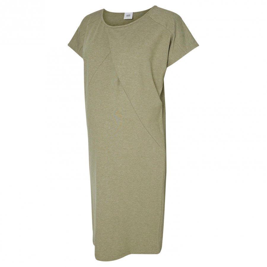 Mamalicious Jersey Maternity Dress Vetiver Raskausmekko