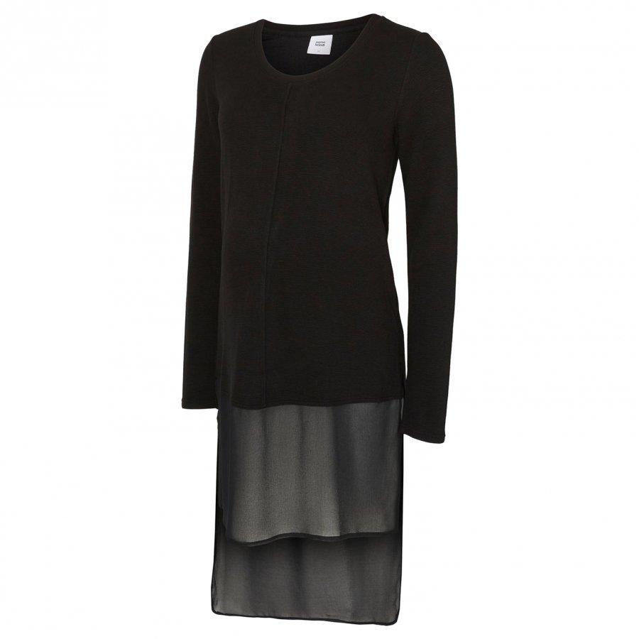 Mamalicious Jersey Maternity Tunic Black Tunika Äidille
