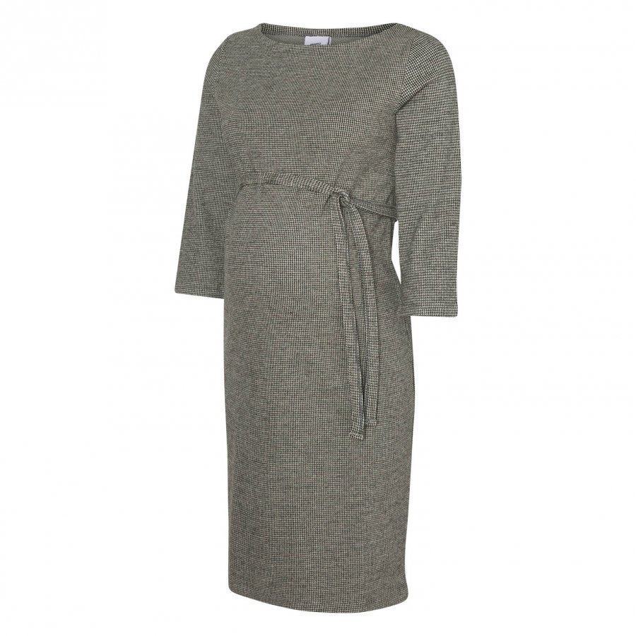 Mamalicious Jersey Tartan Dress Grey Imetysmekko