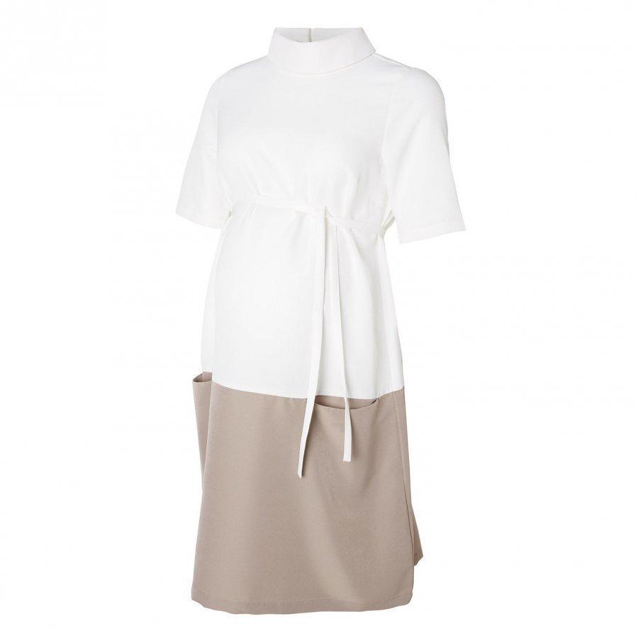 Mamalicious Nina Woven Dress Snow White Raskausmekko