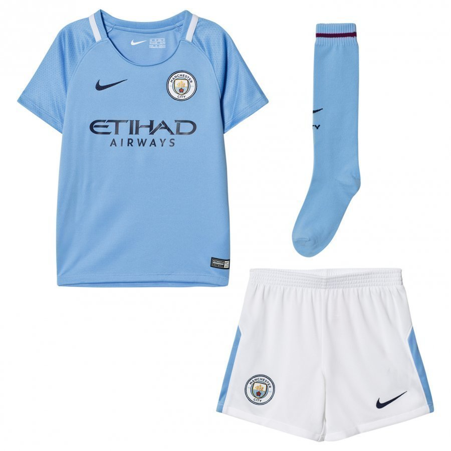 Manchester City Fc Kids Home Soccer Uniform Jalkapalloasu