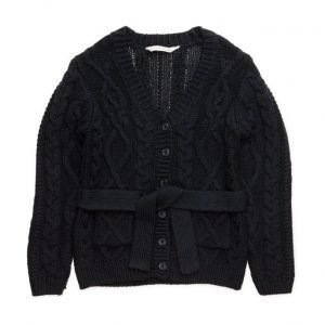 Mango Kids Cable-Knit Cotton Cardigan