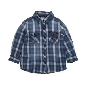Mango Kids Check Chambray Shirt