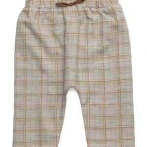 Mango Kids Check Cotton Trousers