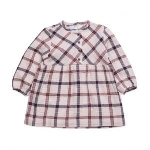 Mango Kids Checked Cotton Dress