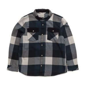 Mango Kids Checked Flannel Shirt