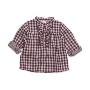 Mango Kids Checked Frills Shirt