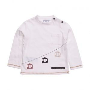 Mango Kids Chest-Pocket Printed T-Shirt