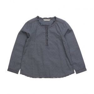 Mango Kids Contrasting Cotton-Blend Shirt