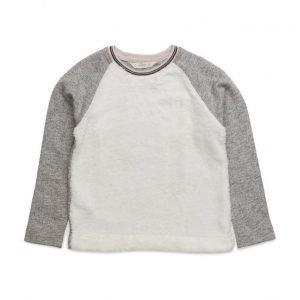 Mango Kids Contrasting Sheepskin Sweatshirt