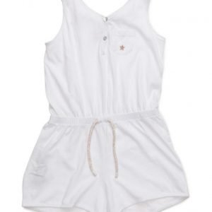 Mango Kids Cotton Short Jumpsuit