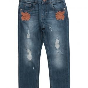 Mango Kids Embroidered Boyfriend Jeans
