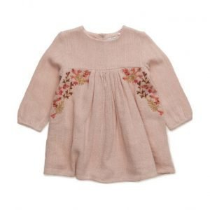 Mango Kids Embroidered Cotton Dress