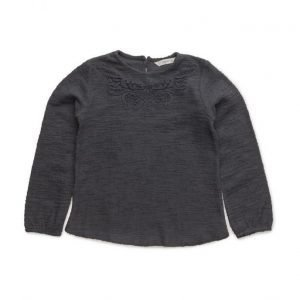 Mango Kids Embroidered Cotton Sweatshirt