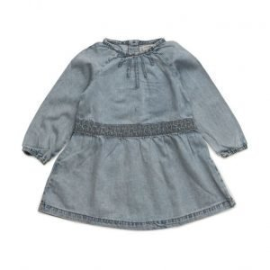 Mango Kids Embroidered Denim Dress