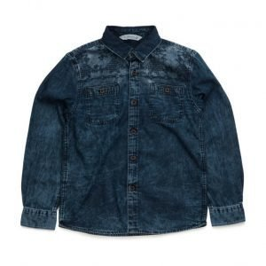 Mango Kids Embroidered Denim Shirt