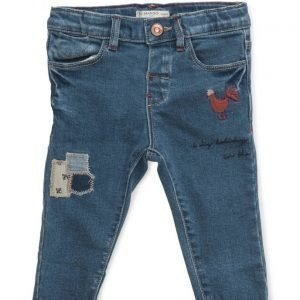 Mango Kids Embroidered Patch Jeans