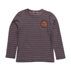 Mango Kids Embroidery Striped T-Shirt