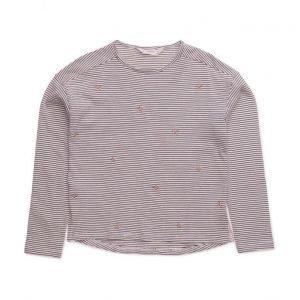 Mango Kids Embroidery Striped T-Shirt