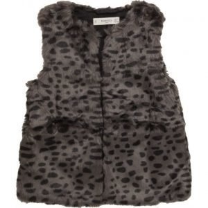 Mango Kids Faux Fur Gilet